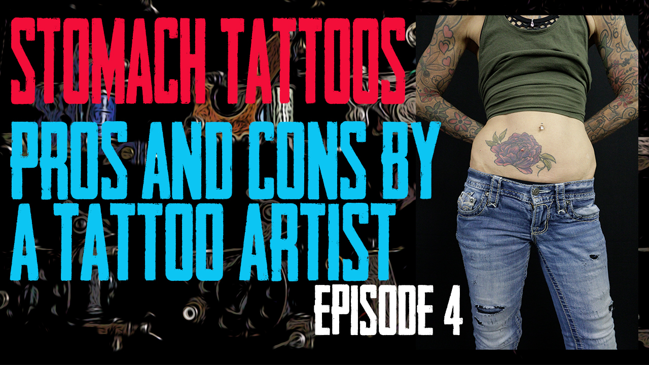 Jack Lowe of Skin Kitchen goes through the Advantages and Disadvantages of getting Tattooed on your Stomach - Pros & Cons by a Tattoo Artist EP 04 - https://youtu.be/oZX8Sq0INPM