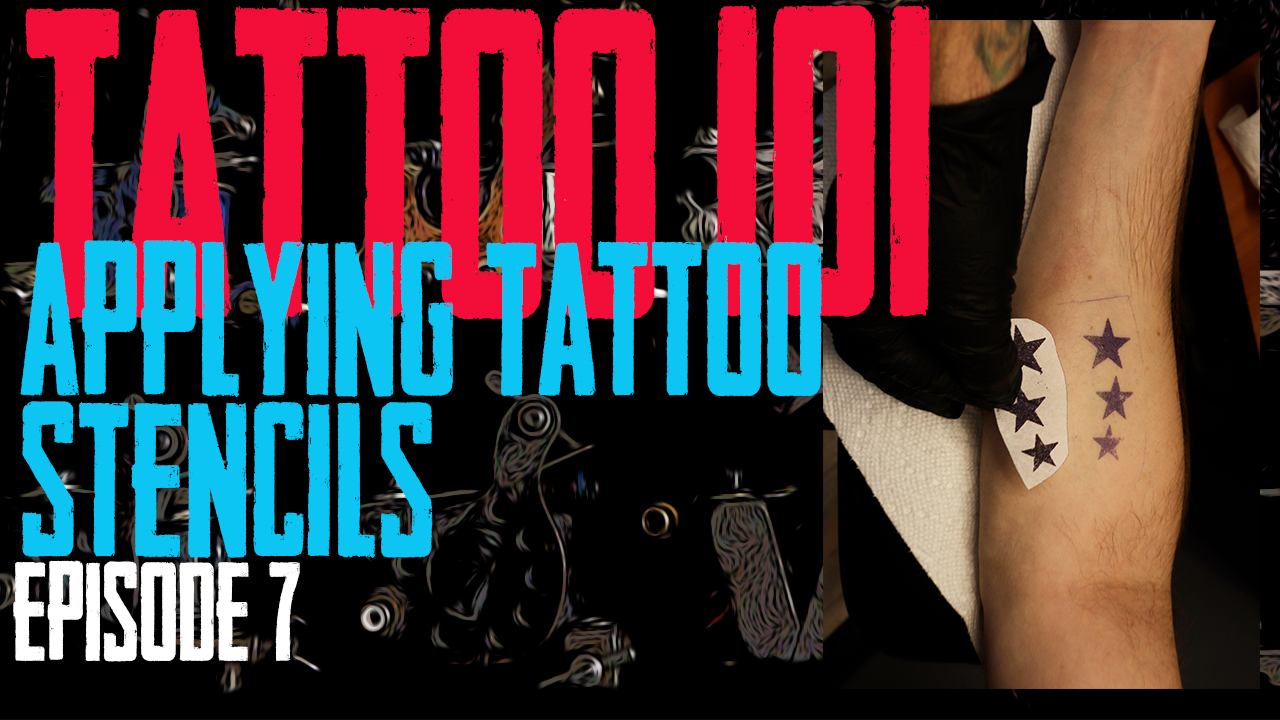 Tattoo 101 EP07, in this episode Jimmy explains how Green Soap, Thermal Fax Machines, and Stencil Stuff is used to apply the tattoo design to the skin - https://youtu.be/SSQDOkRU0xw