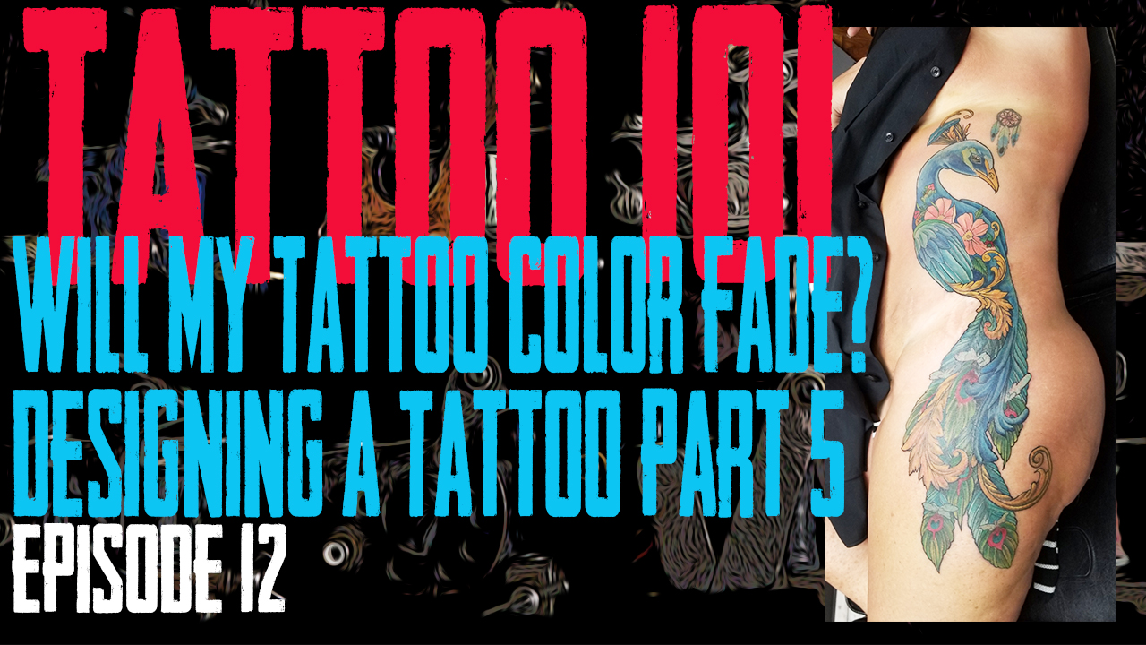 When designing your tattoo, do you want color or just black and grey. In the 5th part of our series on Designing a tattoo, Westley talks about whether Color is a good option. Will My Tattoo's Color Fade? Tattoo 101 EP 12 - https://youtu.be/r01YEJ5_7fk