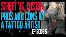 Trying to decide between going to a Street Shop or a Custom Studio for your next Tattoo? Jack Lowe of Skin Kitchen Explains the difference - Pros & Cons by a Tattoo Artist EP 05 - https://youtu.be/yD7e1iX3Mfw