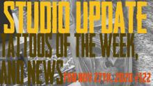 Tattoos of the Week, Piercing & Tattooing - Studio Update for Nov. 27th, 2020 - https://youtu.be/3XVXMGBLL9g