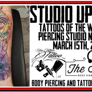 Tattoos of the Week from Jack and Westley and the latest Piercing News and other updates from DaVo - Studio Update for March 15th, 2019