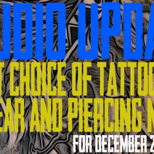 Jack & Westley's Artist Choice for Tattoo of the Year, Piercing & Content News Studio Update for Dec. 27th, 2019 - https://youtu.be/RIksrASbj44